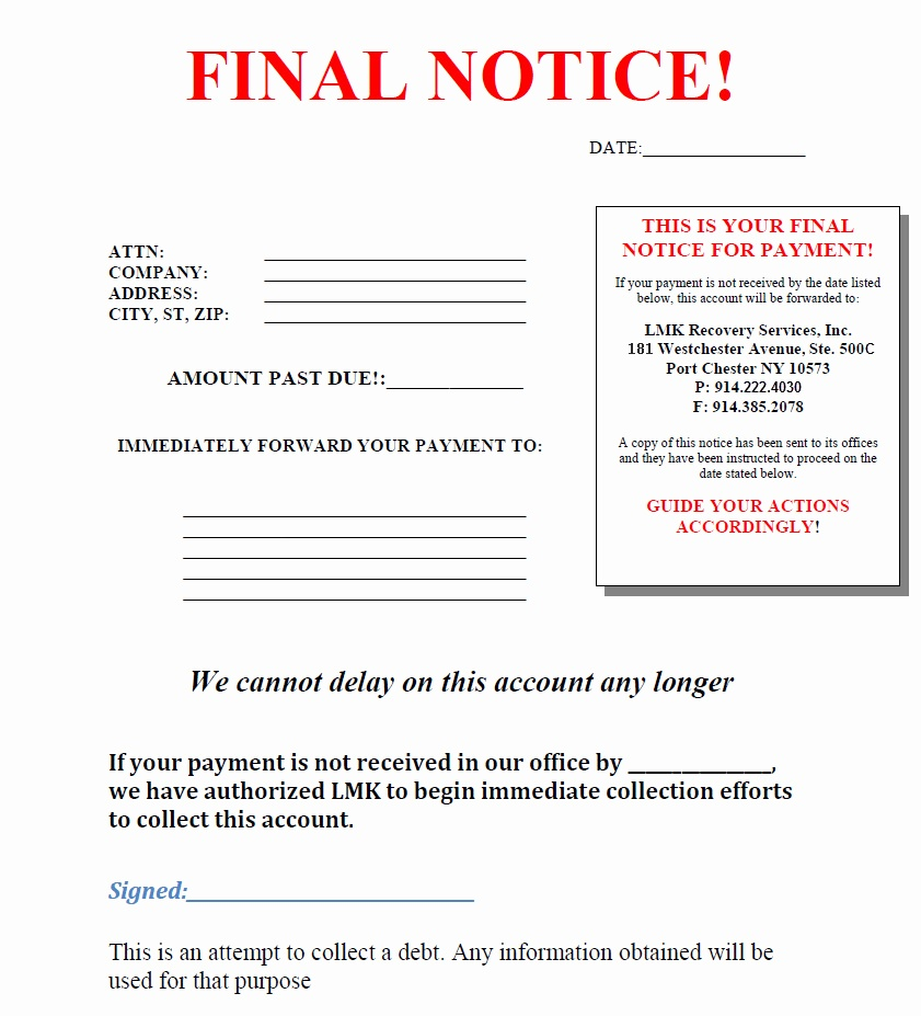 Past Due Collections Letter from nzdebtcollection.co.nz